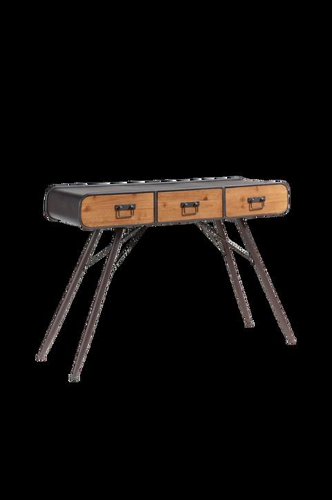 Avlastningsbord HELIA 120x75 grå metall/trä