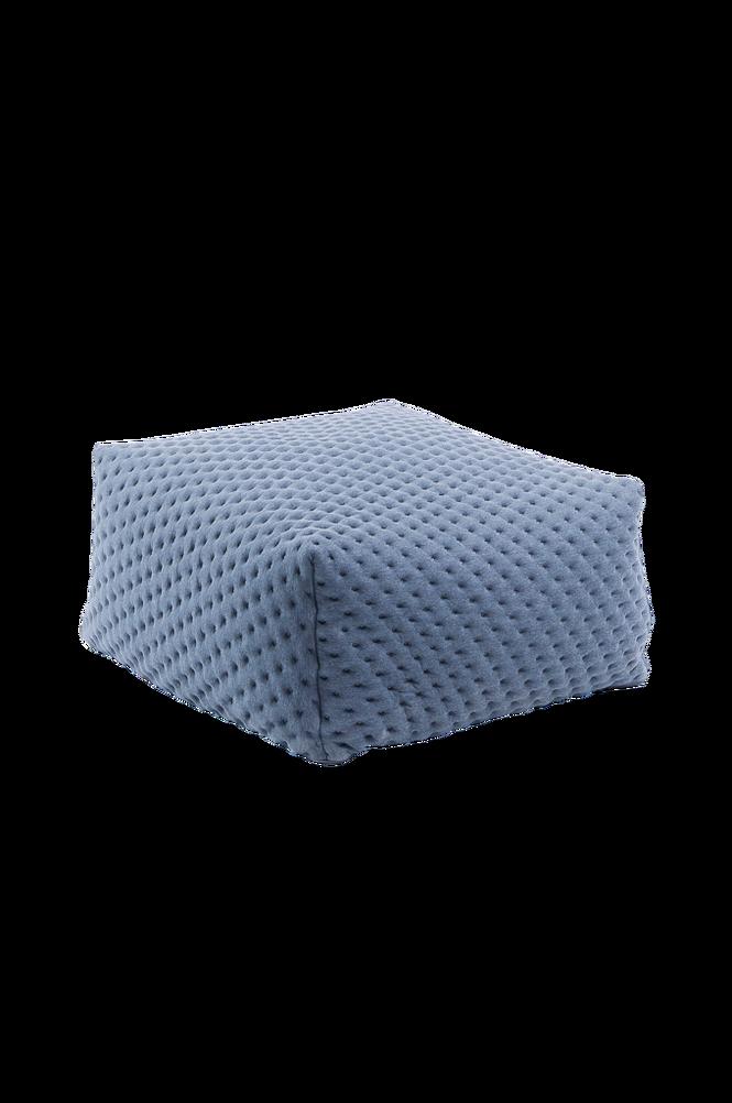 Puff REDIDI 60×60 quiltat tyg/ljusblå