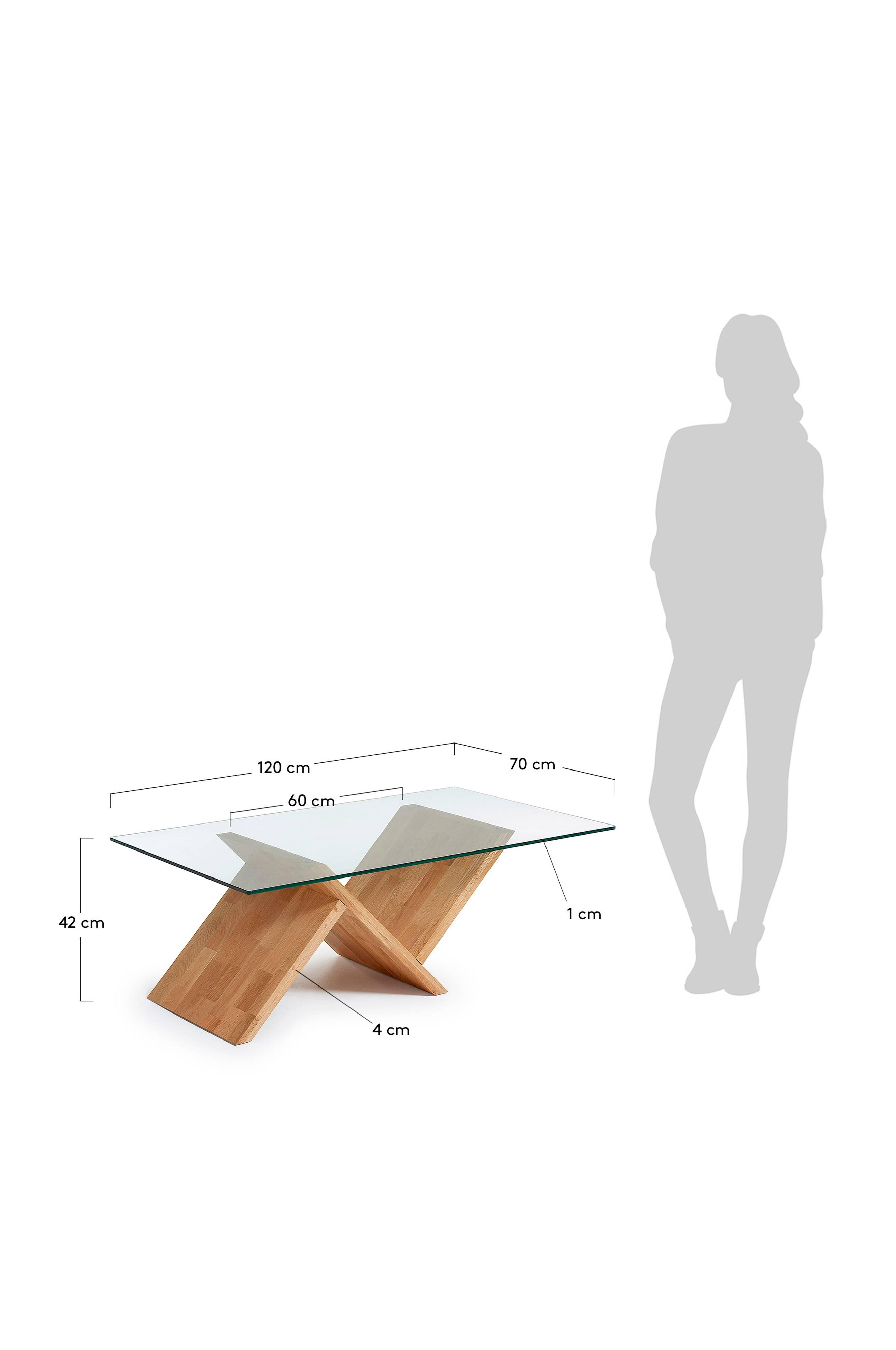 Soffbord WALEA ektransparent glas – Kave Home
