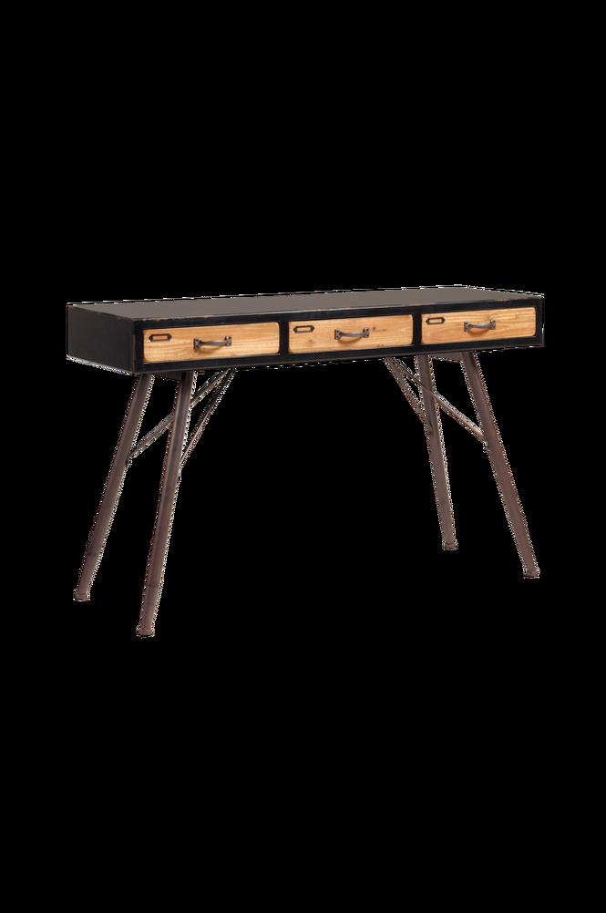 Avlastningsbord FREE 120×40 svart/trä