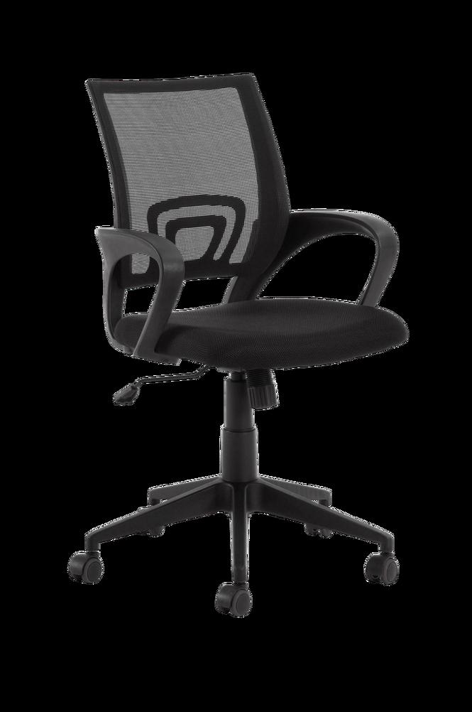 Skrivbordsstol EBOR svart stomme/svart tyg