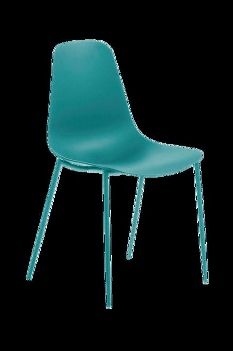 Stol WASSU 4-pack blå metall/blå plast
