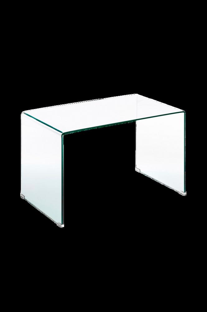 Skrivbord BURANO 125×70 transparent glas