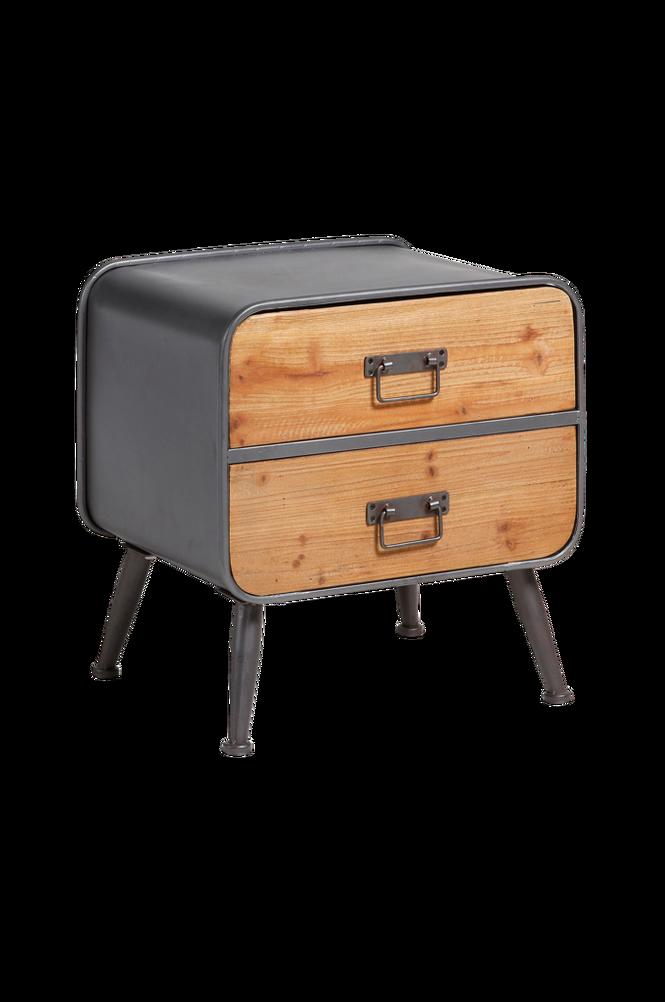 Sidobord HELIA 48×50 grå metall/trä
