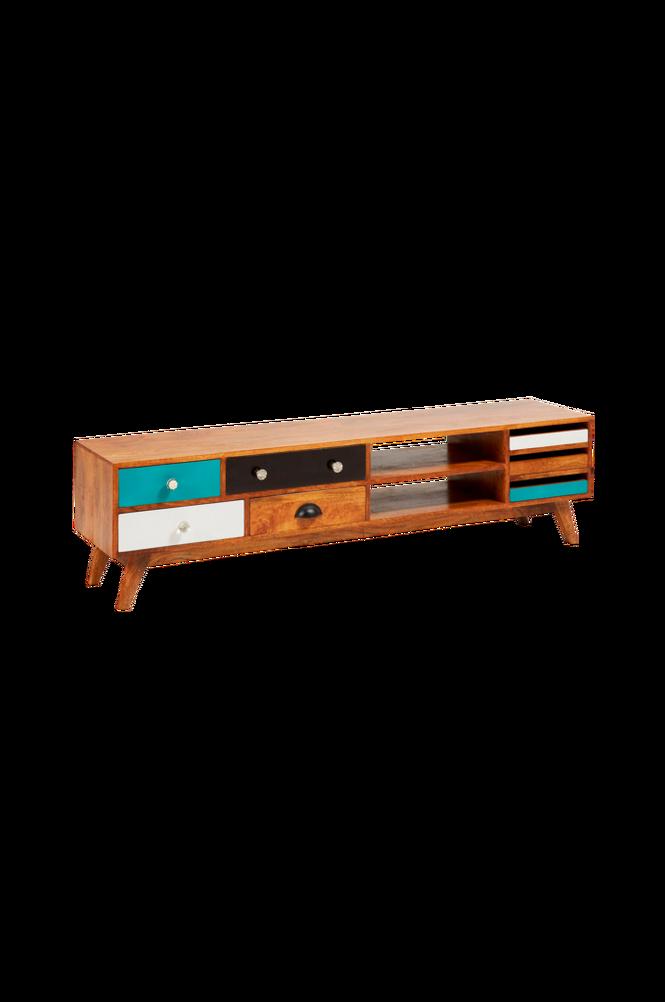 TV-bänk COLLIN 160×41 mangoträ/flerfärgad
