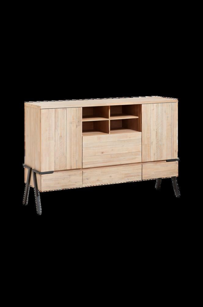 Sideboard DISSET 160×105 metall/akaciaträ