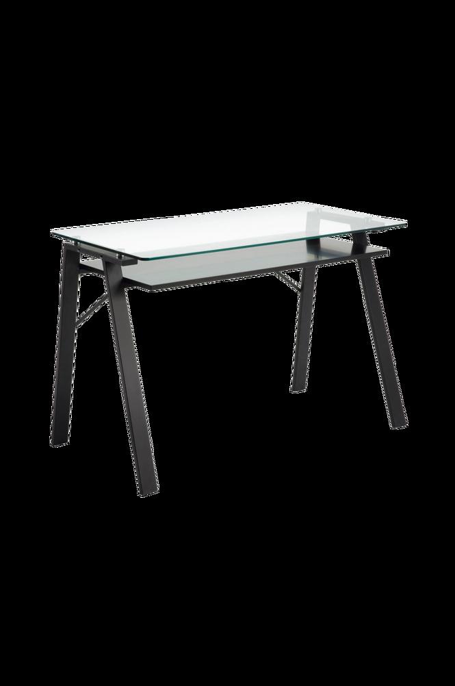 Skrivbord SAUK 120×62 metall/transparent glas