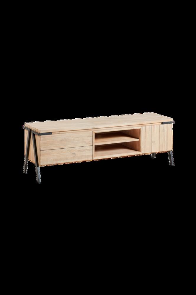 TV-bänk DISSET 165×53 metall/akaciaträ