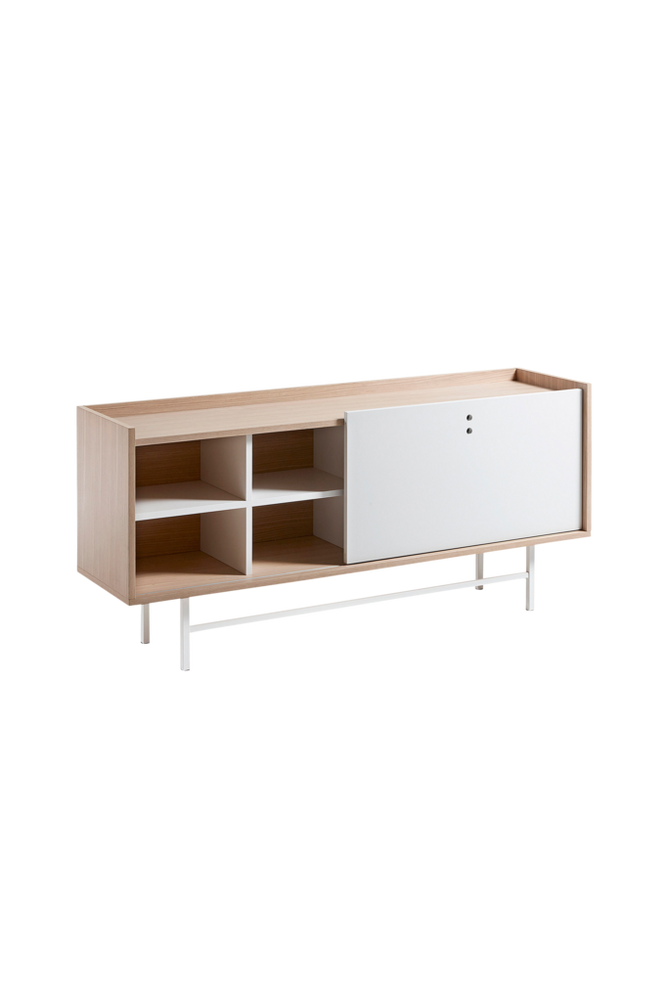 Sideboard LISH 155×70 ekfaner/vit matt MDF