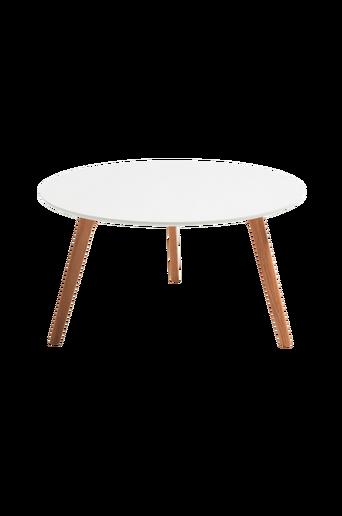 BRICK sohvapöytä, Ø90 cm, puuta / valkoista MDF levyä