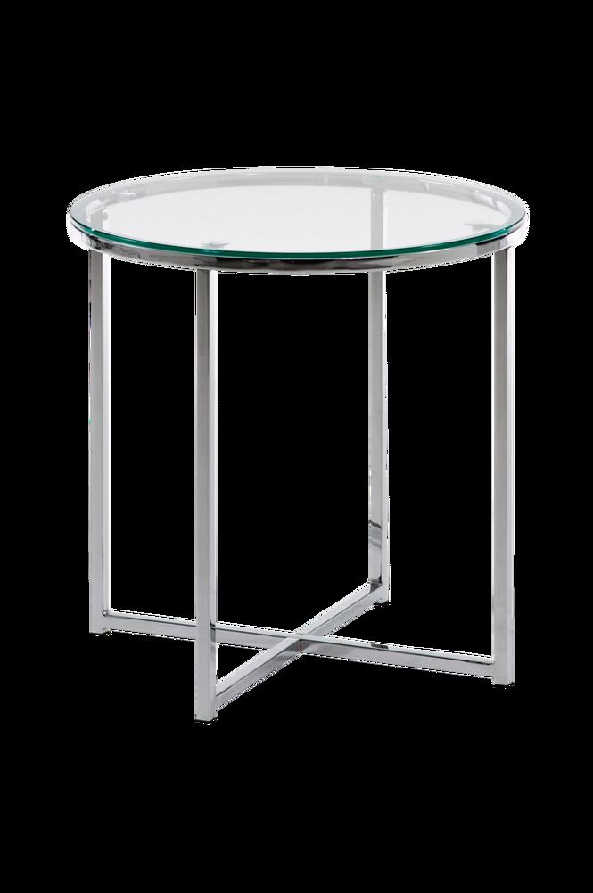 Soffbord VIVID krom/transparent glas