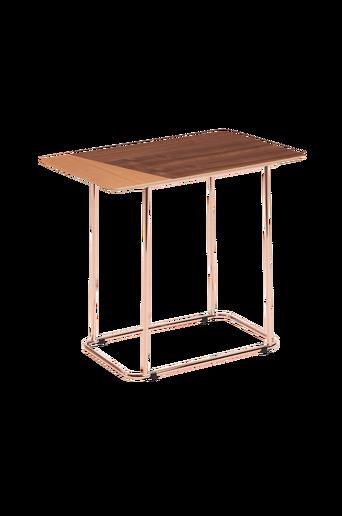 AITANA sivupöytä kuparipintaista metallia / puuviilua