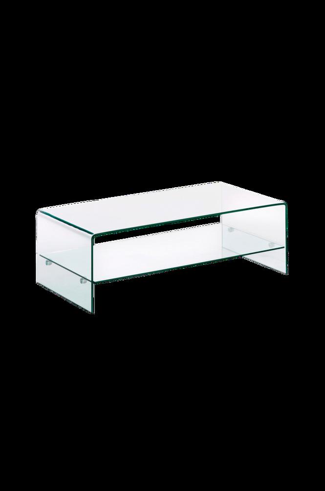 Soffbord BURANO 110×55 transparent glas