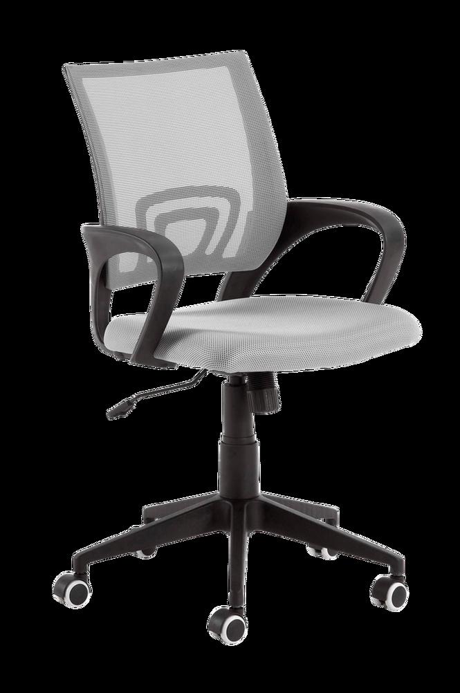 Skrivbordsstol EBOR svart stomme/grått tyg