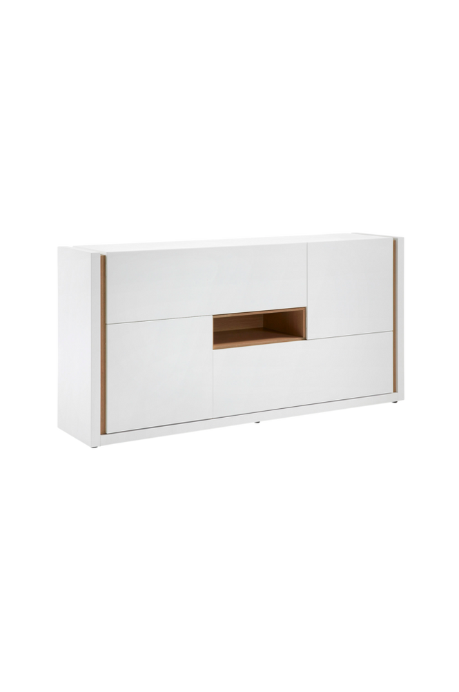 Sideboard QU 197×97 matt vitlackerad