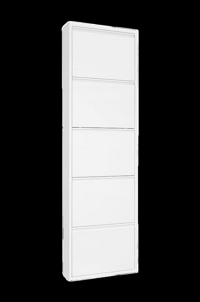 Skohylla ZAPATERO 15 5 dörrar vit