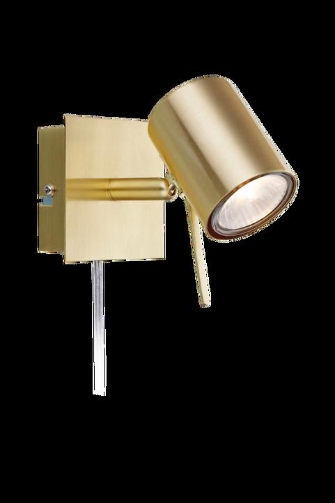 HYSSNA LED Vägg 1L Borstad Mässing