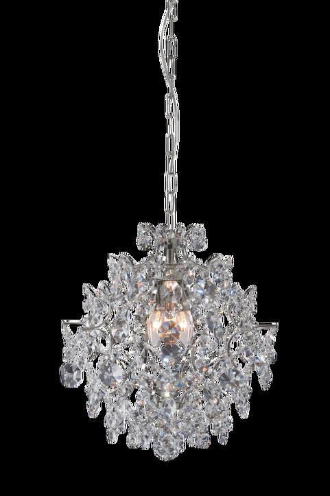 Markslöjd kristallkrona Rosendal. En fantastiskt vacker kristallkrona! Rosendal ger ett vackert sken med sina tätt hängade prismor som är gjorda i maskinslipat glas. Liten lamphållare (E14). Max 40W g