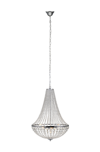GRÄNSÖ kattokruunu, 3 lamppua, kromi/MC lasi