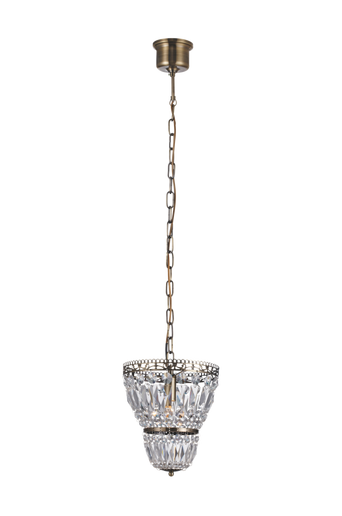 SUNDSBY kattokruunu, 1 lamppu, antiikki/MC lasi