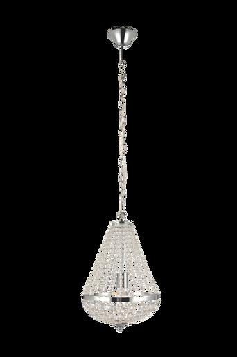 GRÄNSÖ kattokruunu, 1 lamppu, kromi/MC lasi