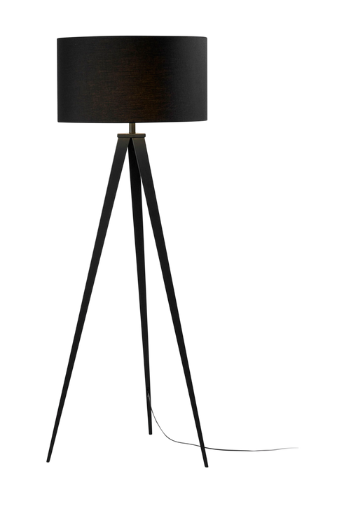 UZAGI golvlampa av svart metall och svart lampskärm