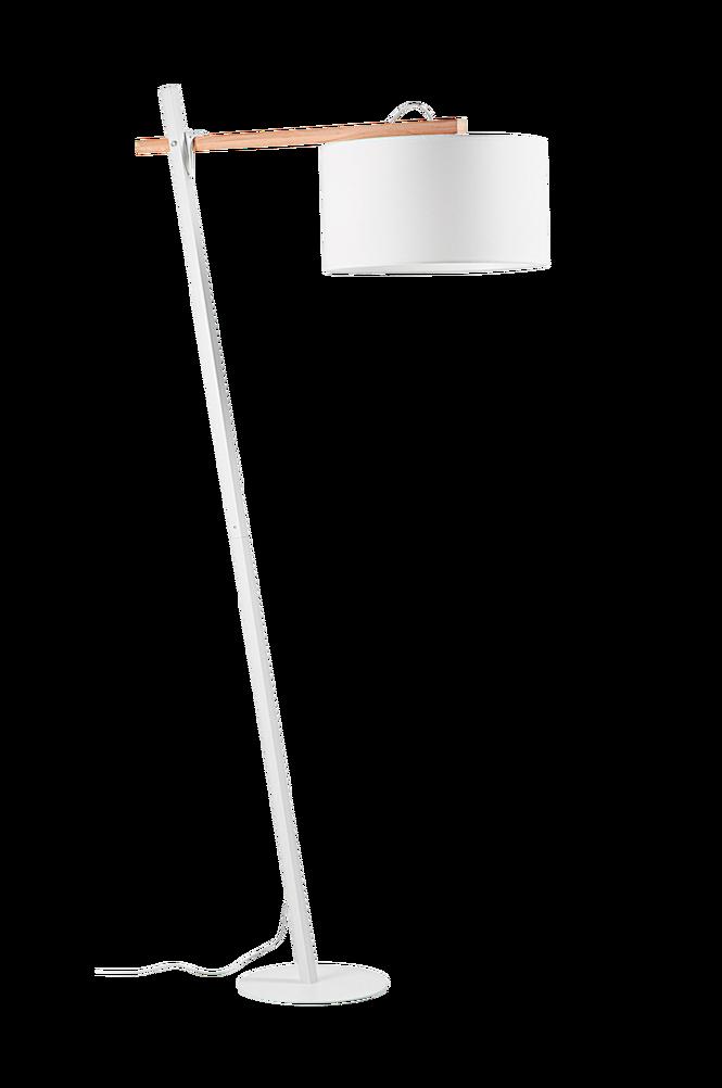 HUKA golvlampa av vit metall
