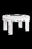 Bilde av Wittskär spisebord ovalt 150x107+50, hvitlakkert