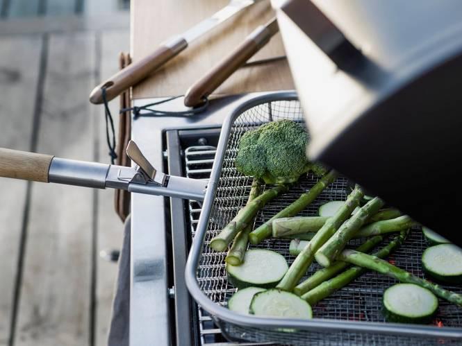 BBQ grillkorg med avtagbart handtag