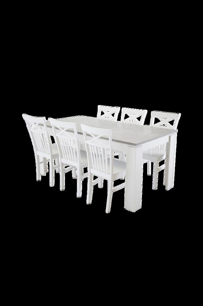Lindos Matgrupp inkl 6st Backagård stolar