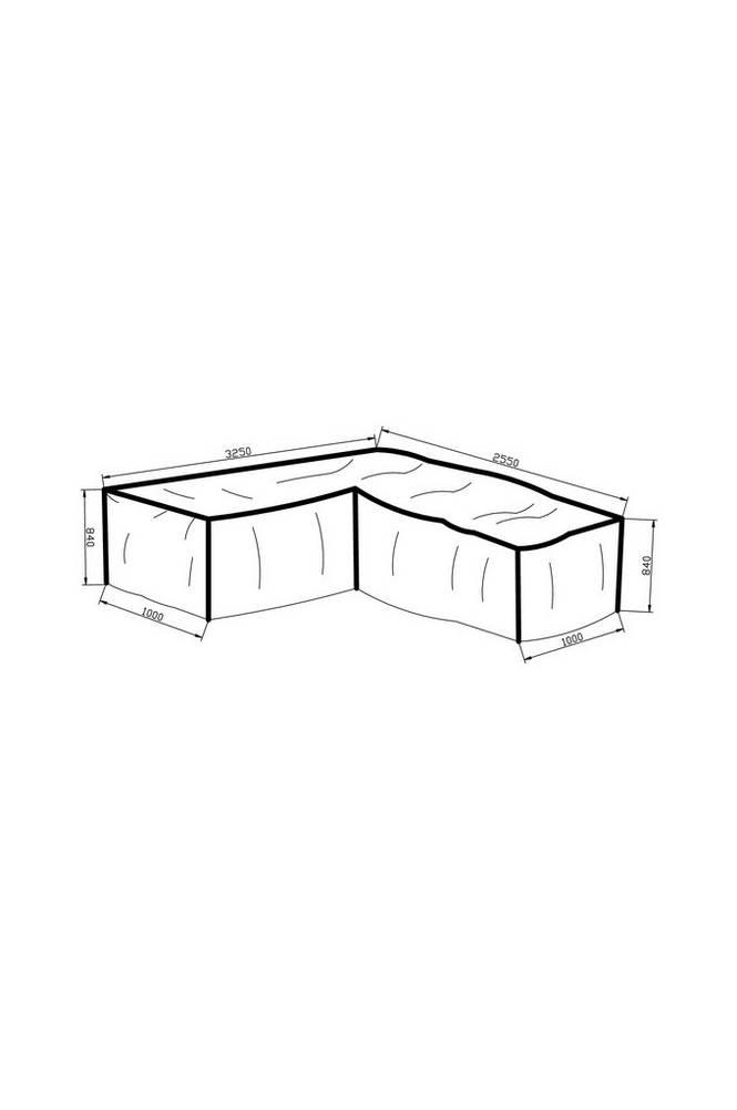 Möbelskydd (L-form) 325*255*100*84 grå