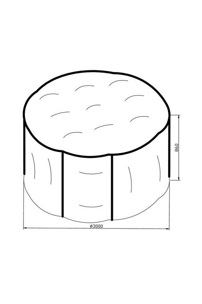 Möbelskydd ø300*H86 grå