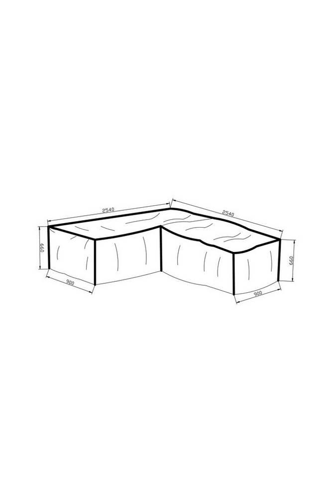 Möbelskydd (L-form) 254*254*90*66 grå