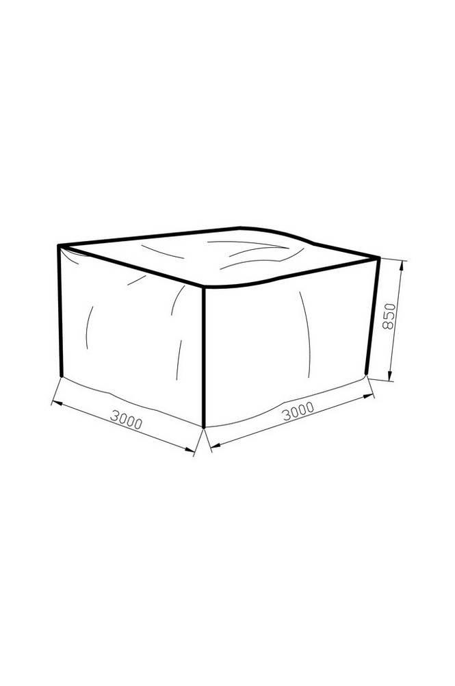 Möbelskydd 300*300*85 grå