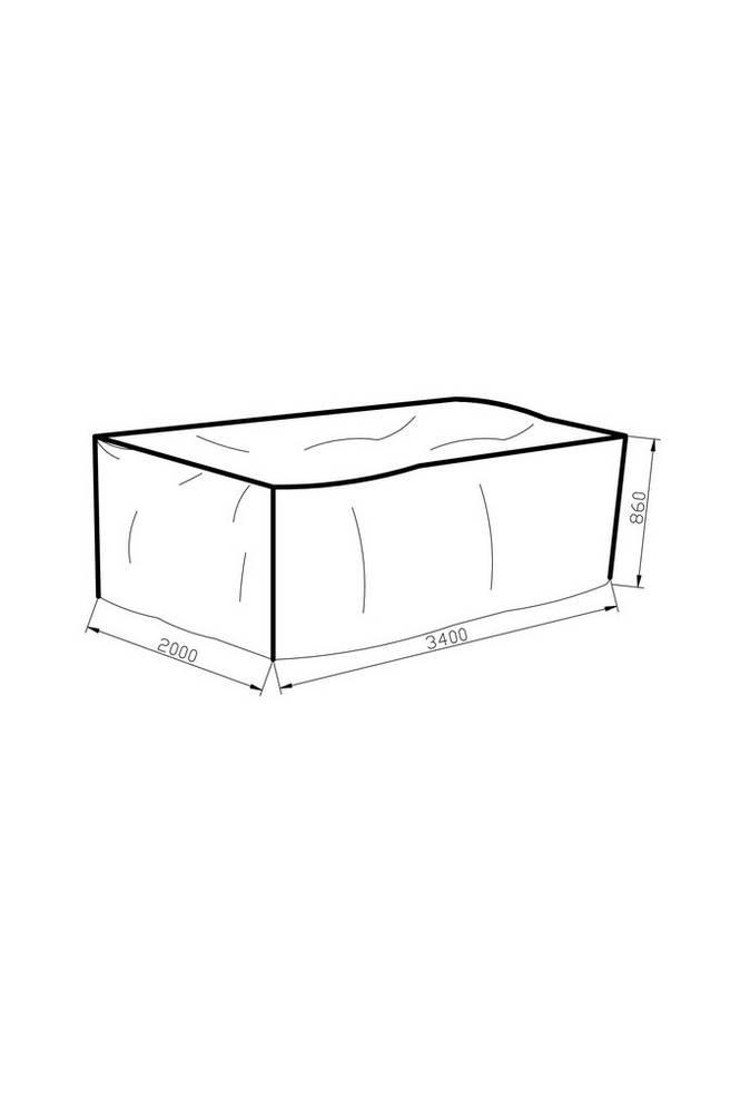 Möbelskydd 200*340*86 grå