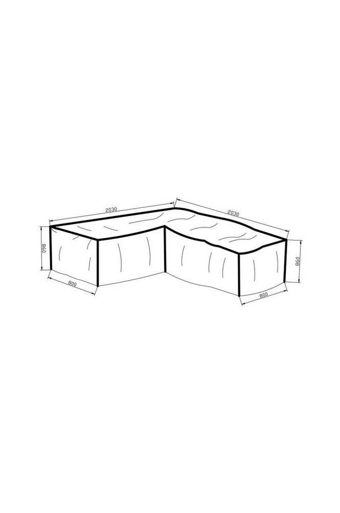 Möbelskydd (L-form) 203*203*80*86 grå