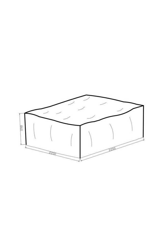 Möbelskydd 220*220*86 grå