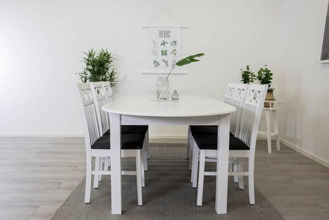 Bilde av Beatrice Oval Extention + Rödje stol (6-pk)