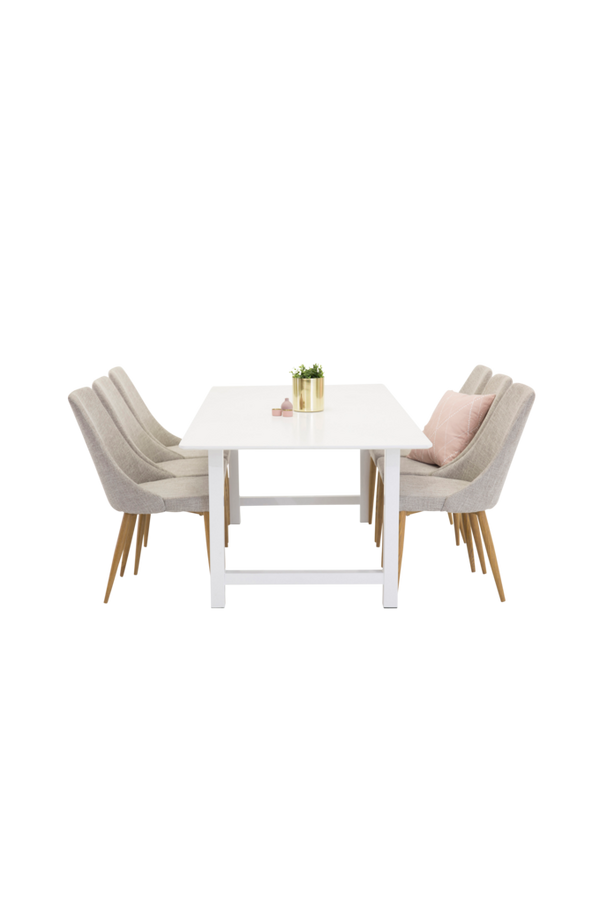 Bilde av Cissi Spisebord + Linnea stol (6-pk) - 30151
