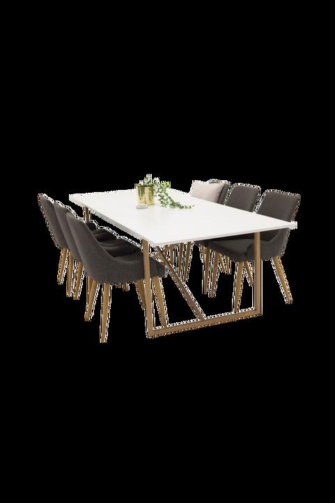 Pinner Bord  / Ek  + Pia stol (6-pack)