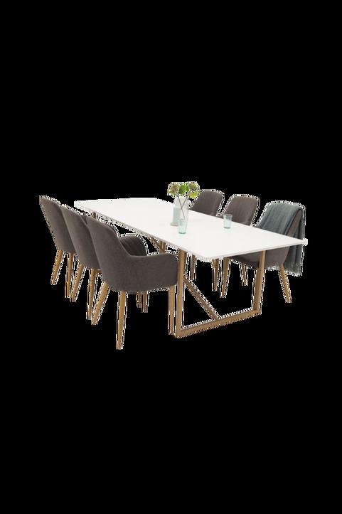 Pinner Bord  / Ek  + Catrin stol (6-pack)