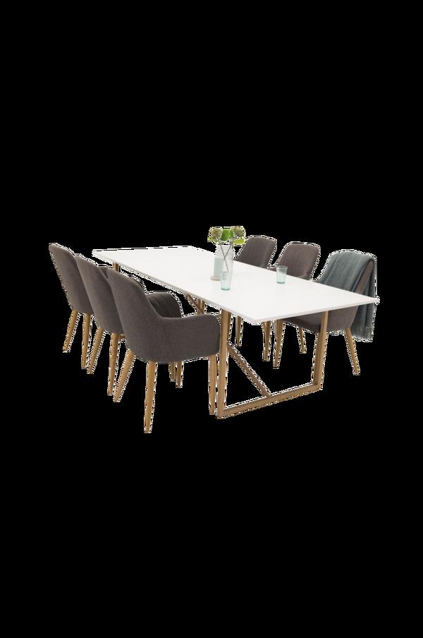 Pinner Bord Eik + Pia stol (6 pk) 30151 | UTDinterior