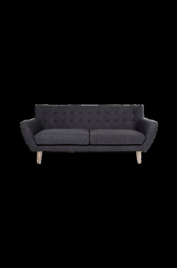 Bilde av 3-seter sofa Monte - Mørk grønn/svarte ben