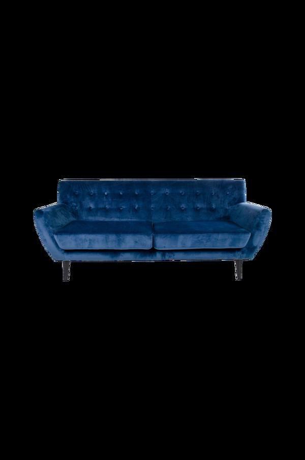 Bilde av 3-seter sofa Monte - Mørk blå fløyel