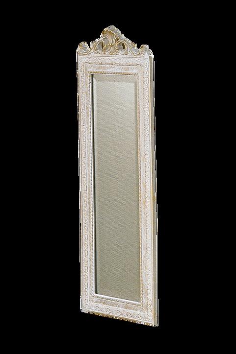 Spegel Krona vitguld 35x90cm