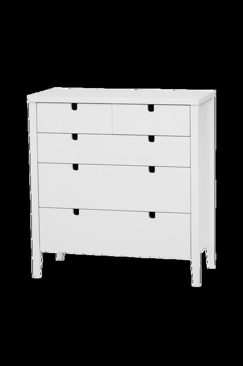 Byrå KLINTE vit med 3+2 st lådor