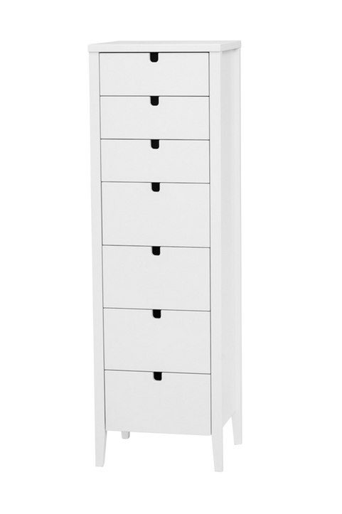 Byrå KLINTE vit med 7 st lådor