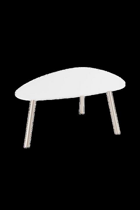 Soffbord svart ovalt Malou 88 x 62 x 40 cm