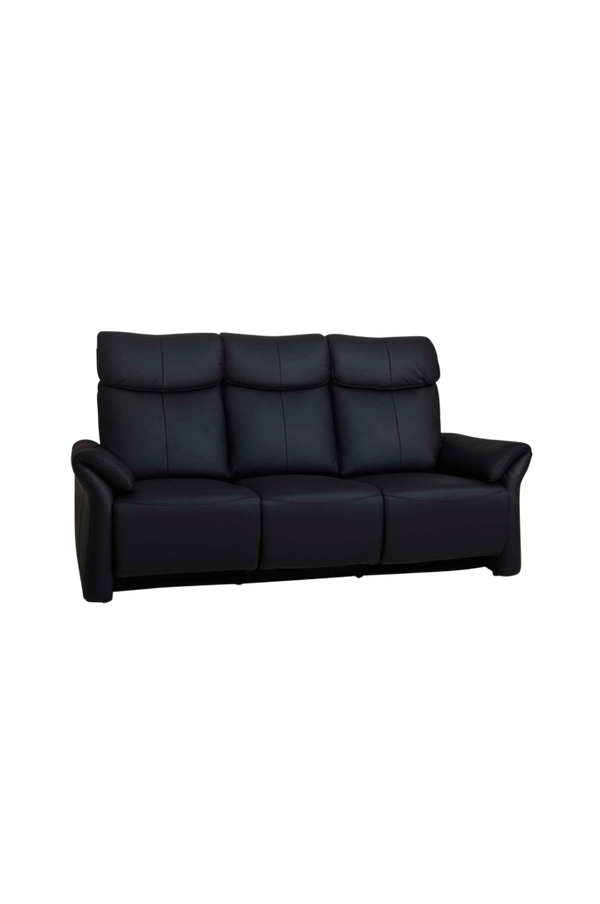 Bilde av 3-seter recliner sofa m elektrisk kontroll, 205x92x107 - Black