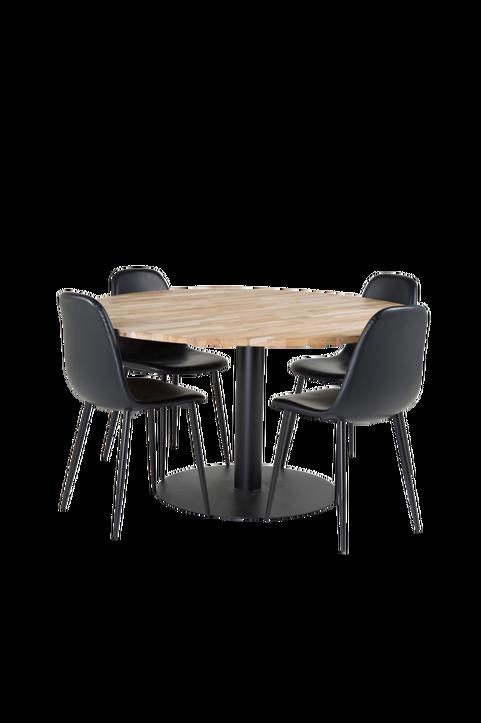 Matgrupp Camille matbord och 4st Penally matstolar